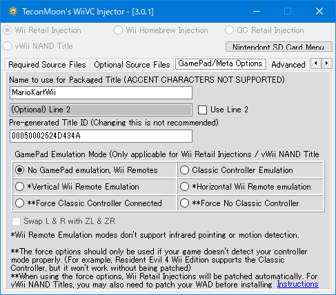 WiiVC Injector Script v3 0 1 を試してみた   larksanの